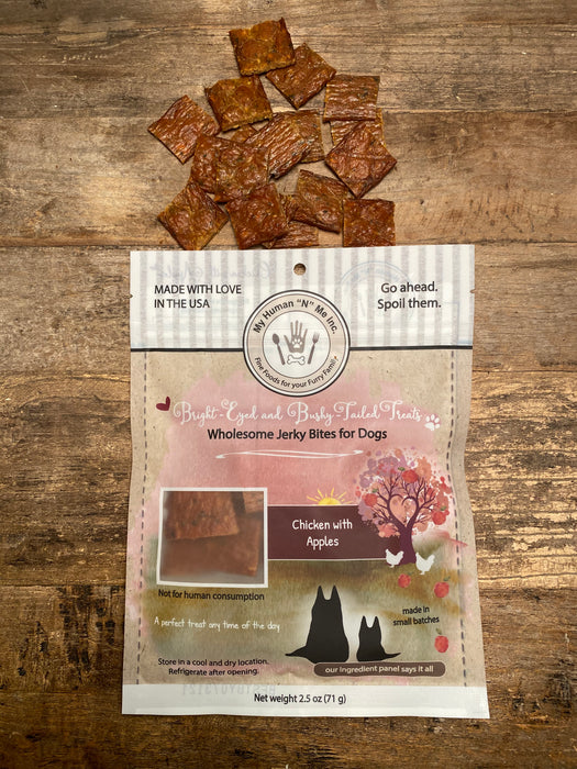 Chicken with Apples Jerky Bites for Dogs (2.5 ounces)