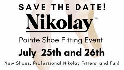 Nikolay Pointe Shoe Fitting Event!