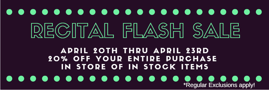 Recital Flash Sale