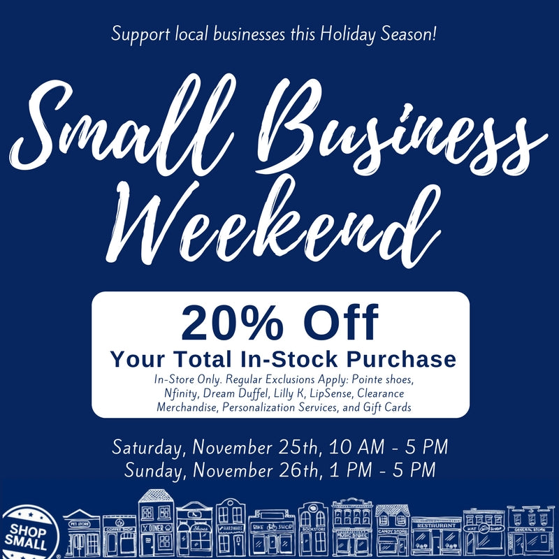 Small business weekend relev dancewear all of our small business weekend deals are in store only but feel free to shop online if you cannot make it into our store colourmoves
