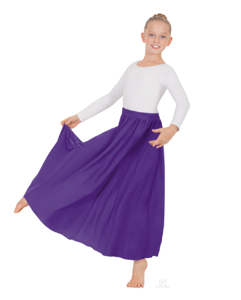 "13778K 25"" child lyrical skirt"
