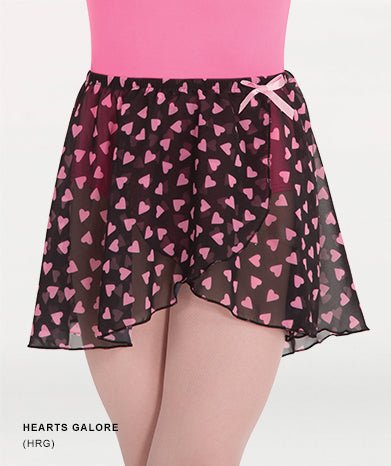 138 Child Print Mock Wrap Skirt