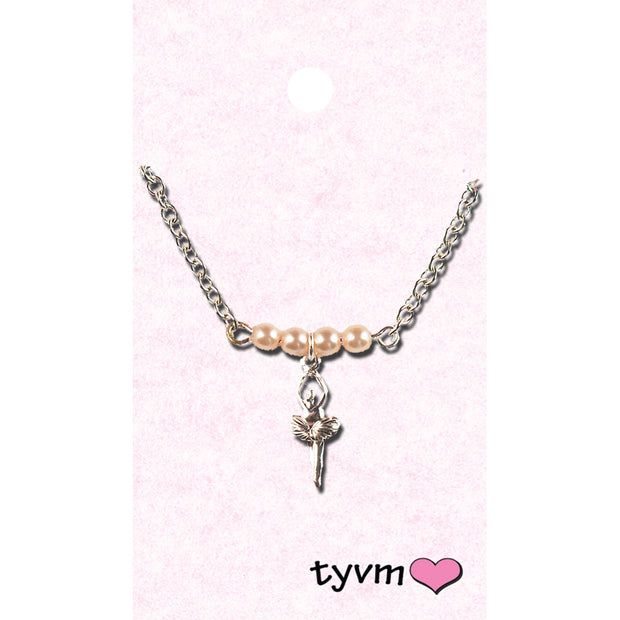 25410 Dainty Pearl Ballet Necklace