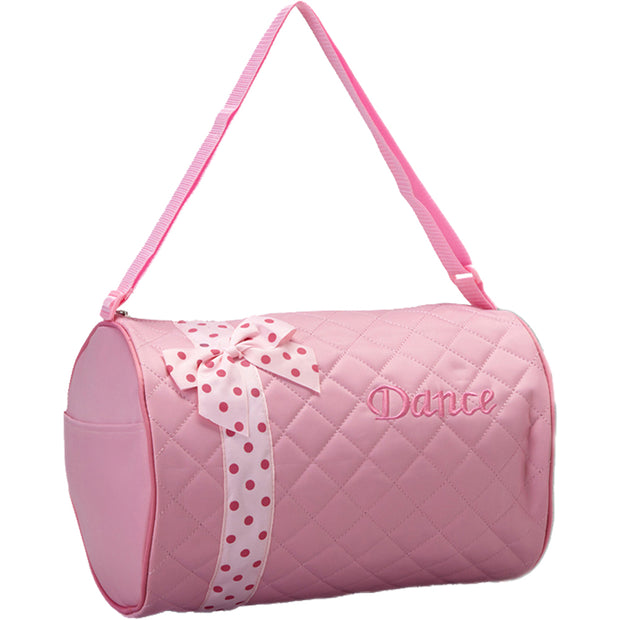 44012 Polka Dot Ribbon Duffels