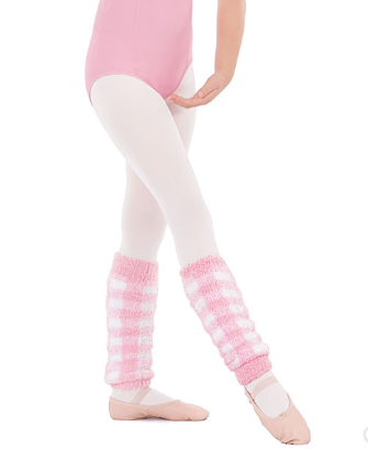 "72526C 12"" Gingham Patterned Legwarmer"
