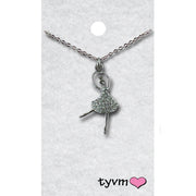73350 Crystal Ballerina Necklace