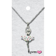 79510 Ballerina with Crystals Necklace