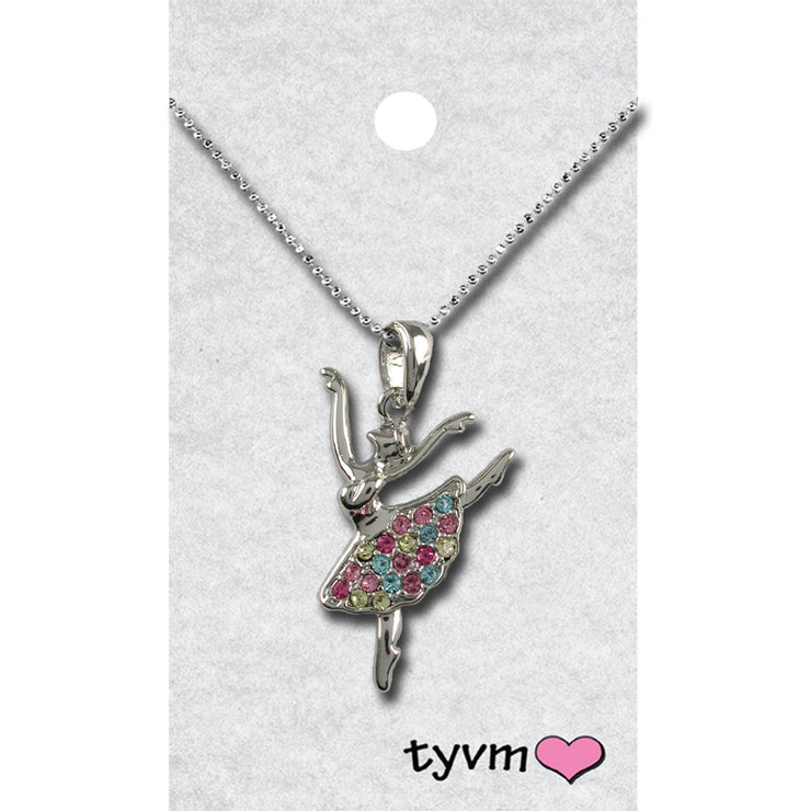 79712 Rainbow Crystal Ballerina Necklace