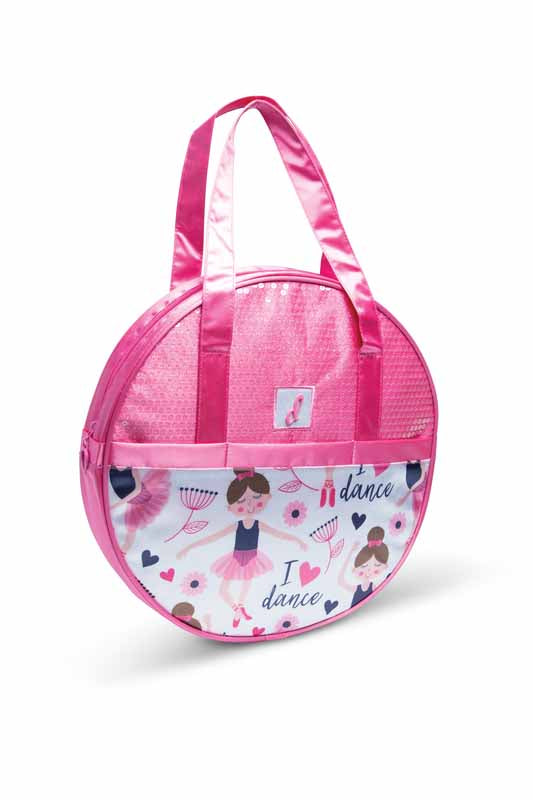 B21500 I Love Dance Ballerina Hat Box Tote