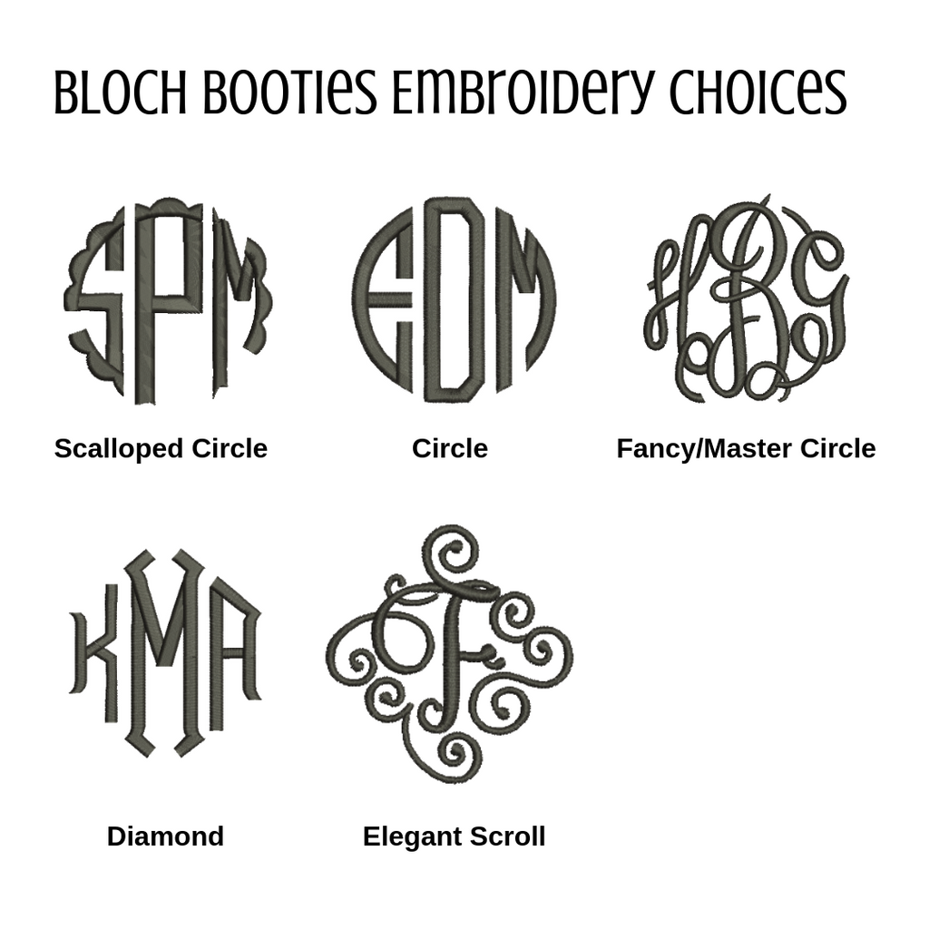 Bloch Booties Embroidery Fonts