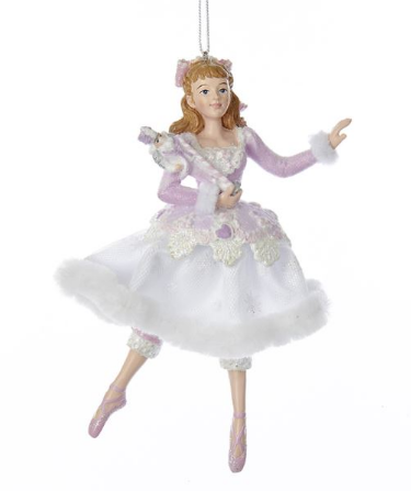 C7916 Sugar Plum Clara Holding Nutcracker Ornament