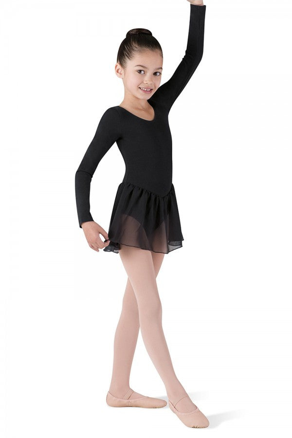 CL5309 Child Long Sleeve Skirted Leotard