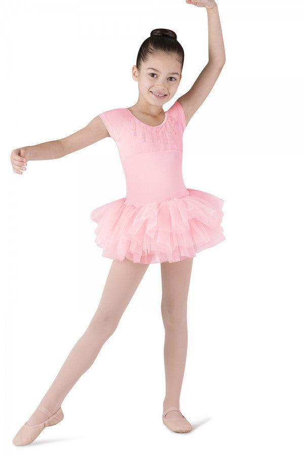 CL8012 Child Sequin Trim Tutu Dress