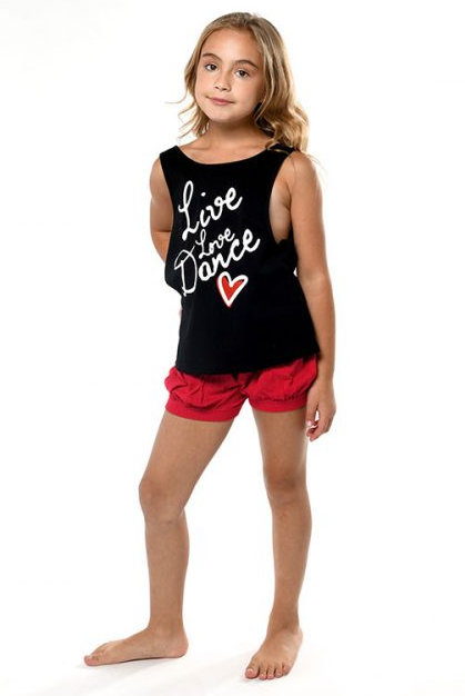 D9522 Live Love Dance Youth Low Back Tank