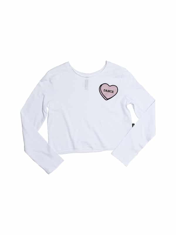 D9575 Dance Heart Youth Crop Long Sleeve