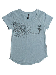 D9606 Sketch Ballerina Youth Epic Tee