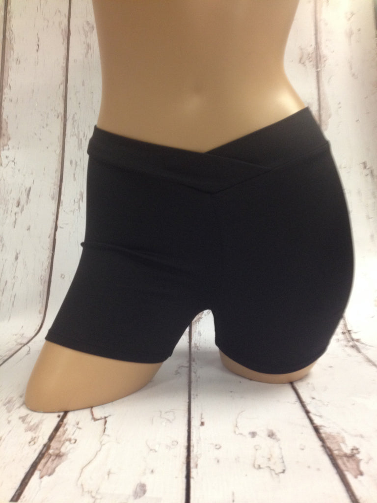 "7113 V-Waist Shorts 2"" inseam (497 Black)"