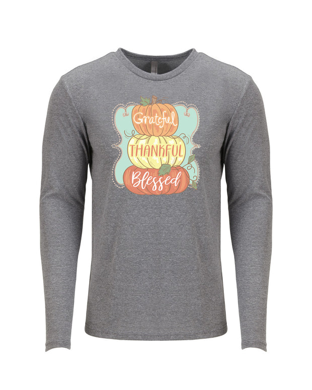 Greatful Thankful Blessed Long Sleeve T-shirt
