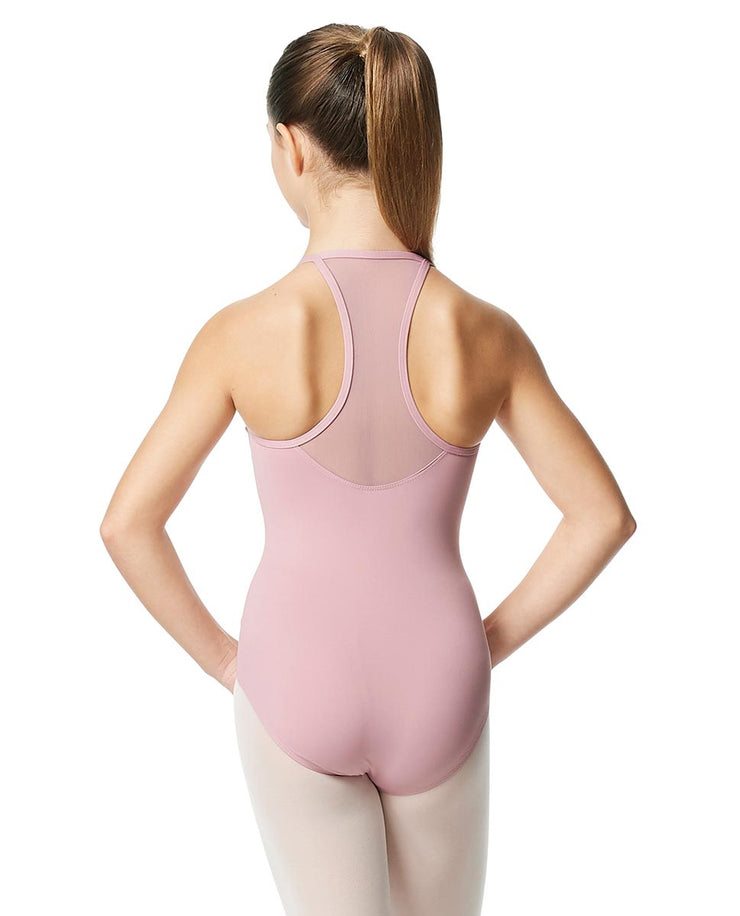 LUB349C Zinauda Girls Cami Mesh Leotard