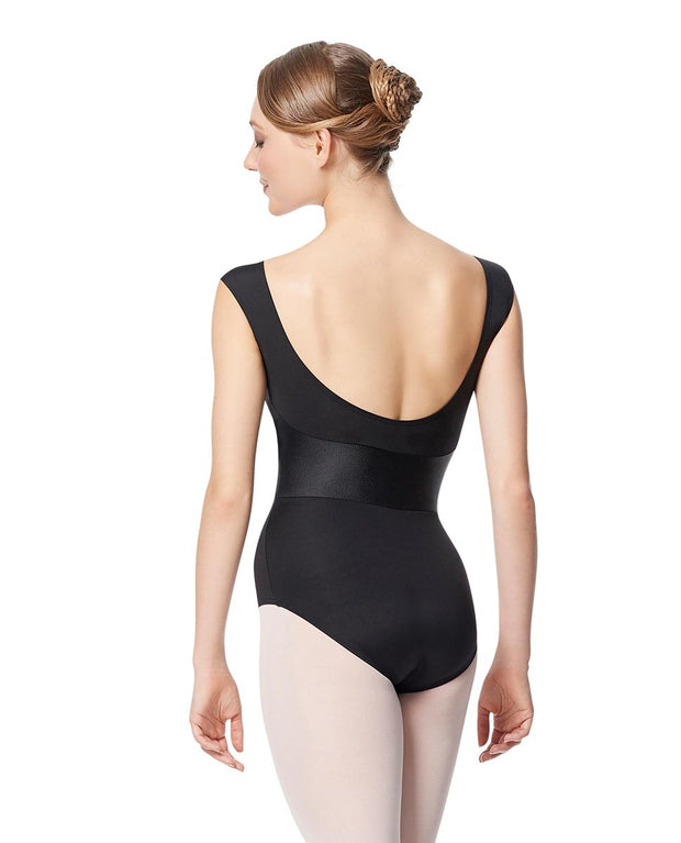 LUF647 Satine Faux Leather Leotard