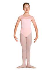 M1525C Child Open Back Cap Sleeve Leotard