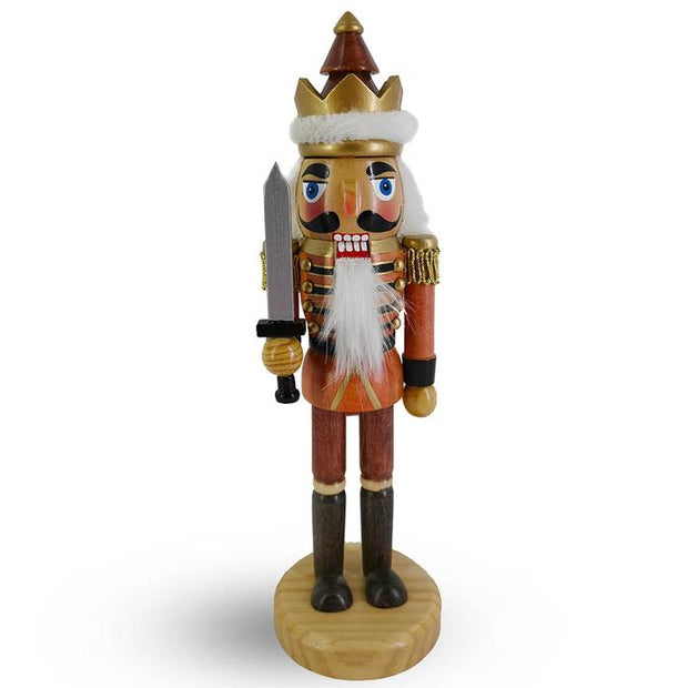 Woodsman Soldier Nutcracker Wood Grain w/Sword