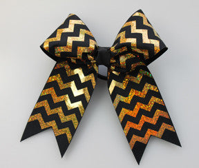 HB490 Chevron Deco Sparkle Bow