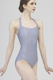 Vicky Embossed Halter Leotard* FINAL SALE