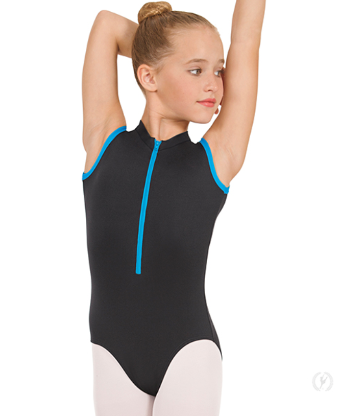 44518C Child Zipper Front Trim Leotard
