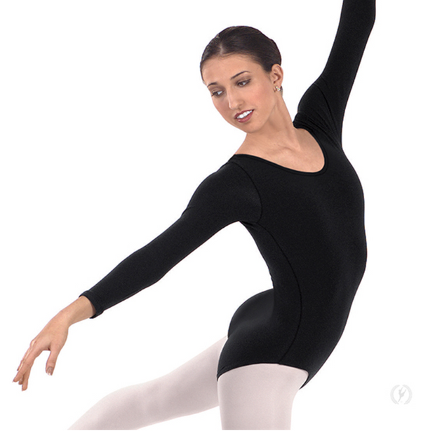 44265P Plus Microfiber Long Sleeve Leotard