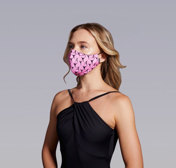 A005A Adult Print Face Mask w/Lanyard
