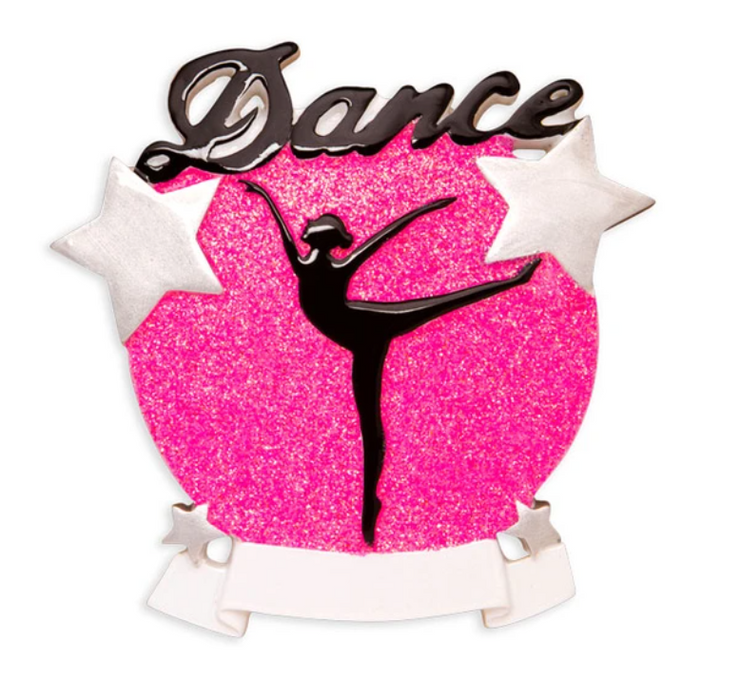 Dance Silhouette Sparkle Ornament