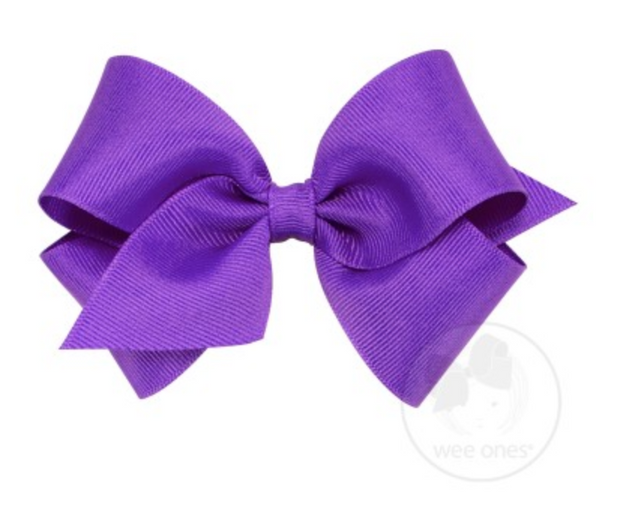 7662-G Small Solid Grosgrain Basic Bow