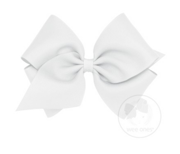 MKB-G King Mini Solid Grosgrain Bow