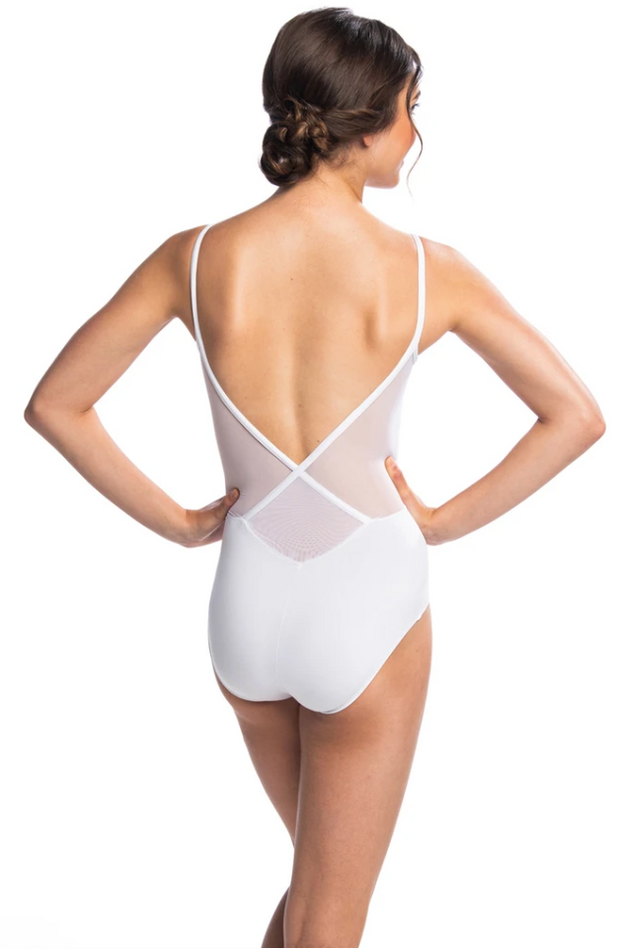 136ME Allegra Leotard with Mesh