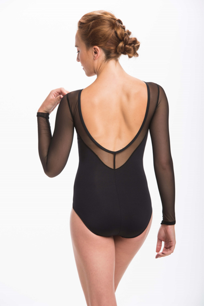196ME Bailey Leotard with Mesh