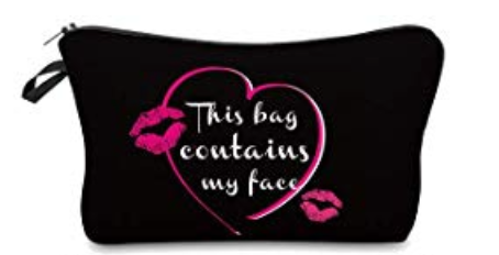 Black/Hot Pink Cosmetic Pouches