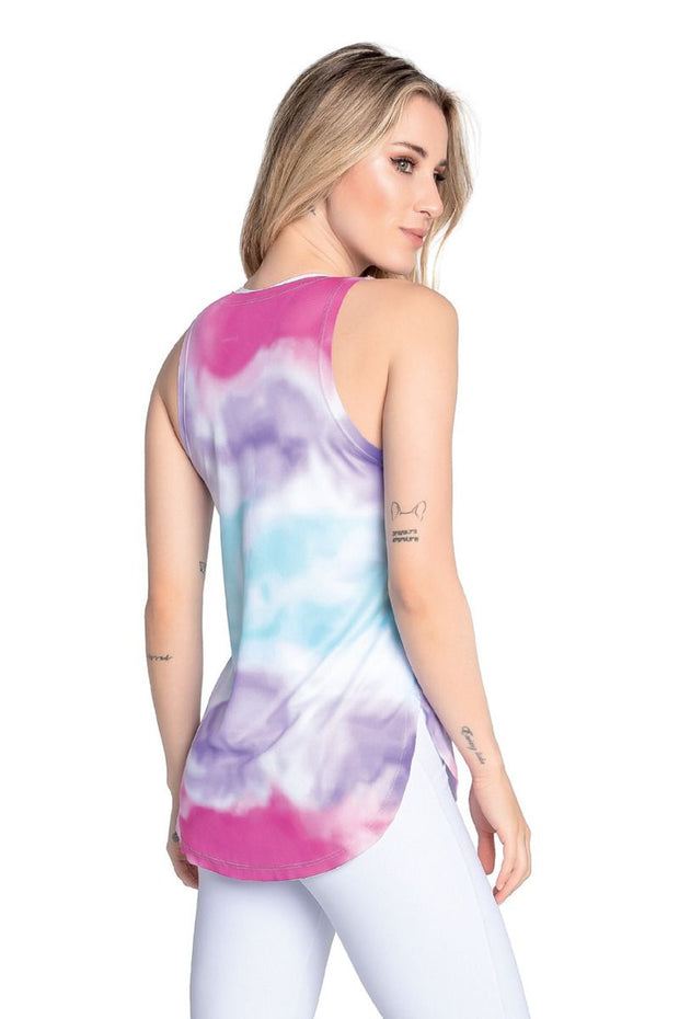 F-14407 Adult Tie Dye Tank Top