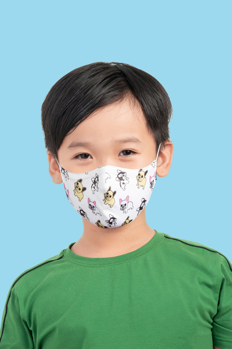 A005C Child Print Face Mask w/Lanyard