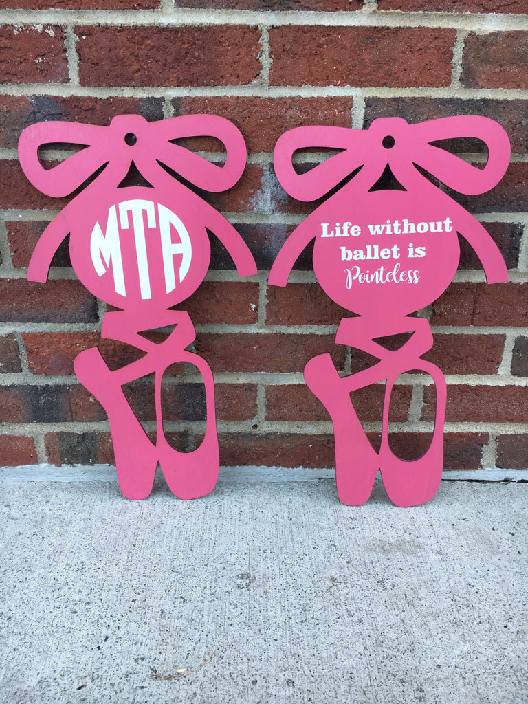 Ballet Slipper Wooden Wall Art