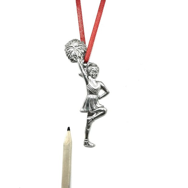 Pewter Cheerleader Ornament