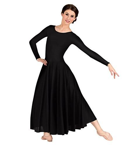 512XX Plus Long Sleeve Dance Dress