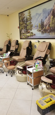 2 instock refurbished  pedicure chairs