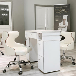 Manicure Nail Table and Chairs Complete Luxury Package
