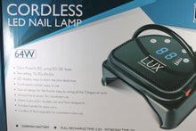 Load image into Gallery viewer, LUX 64W Cordless Rechargeable LED Gel Curing/Drying Lamp for Gel Manicure/Pedicure