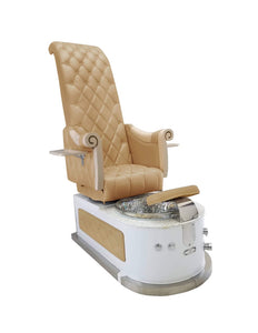 LUX ROYAL HB550s Pedicure Spa Chair Premium Package - Cappuccino Color