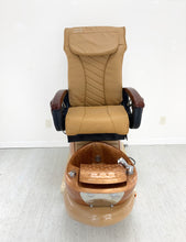 Load image into Gallery viewer, Beyond Design Chairs - Cappuccino Color - Excellent conditions + New Leather new armrest - Call or text us for exactly shipping quote 704 490 3934