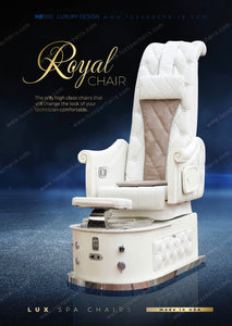 LUX ROYAL HB550s 3rd GEN Pedicure Spa Chair Premium Package - PEARL WHITE