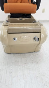 t4 Panther Pedicure Chair - New Leather - Newly Painted Armrests - 1 in stock