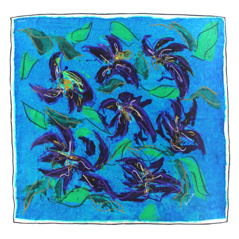 SPECIAL COLLECTOR'S EDITION: Le Foulard 'Blue Irises' (Limited Edition)